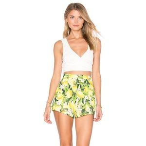 Show Me Your Mumu Lemon Shorts, Small, NWOT